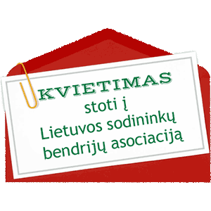 Kvietimas stoti į Lietuvos sodininkų bendrijų asociaciją