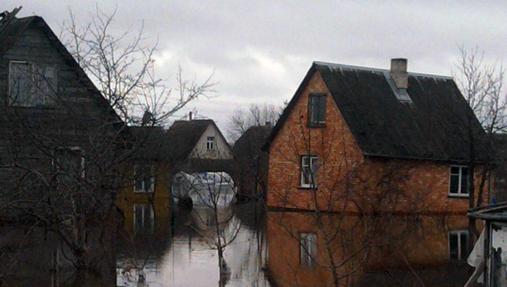 Apsemti namai (potvynis, 2010 kovas)