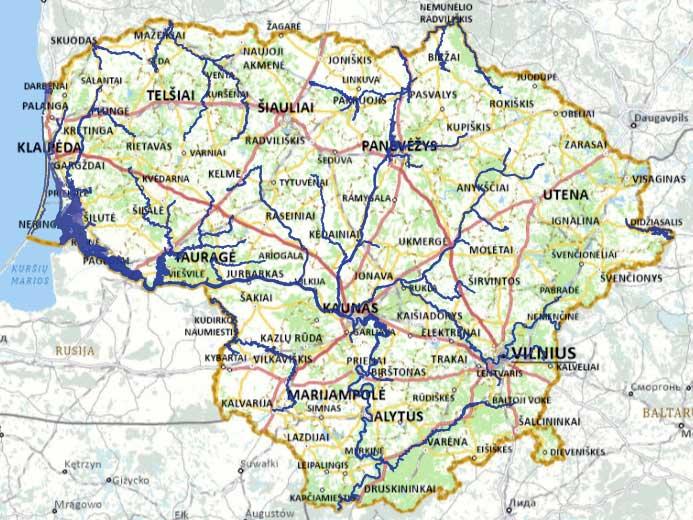 Interaktyvius potvynių grėsmės ir rizikos žemėlapis (galimo potvynio analizei)